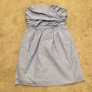 Blue J. Crew strapless dress in a size 0